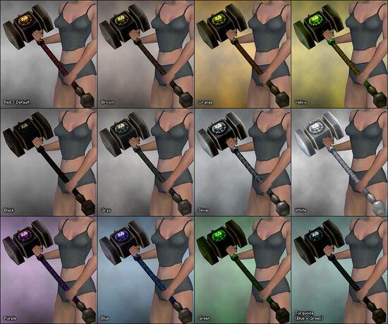 War Hammer (Magmas Arm) dye chart