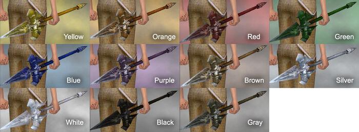 Suntouched Spear Dye Chart