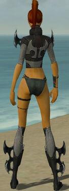 Assassin Kurzick Armor F gray chest feet back
