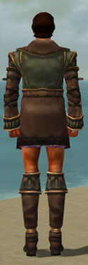 Mesmer Ancient Armor M gray chest feet back