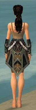 Ranger Kurzick Armor F gray arms legs back