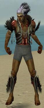 Necromancer Sunspear Armor M gray chest feet front