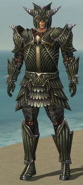 Warrior Wyvern Armor M gray front