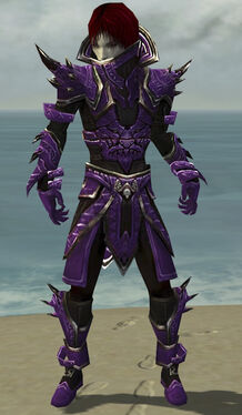 Necromancer Asuran Armor M dyed front