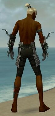 Assassin Elite Luxon Armor M gray arms legs back