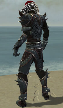 Necromancer Asuran Armor M gray back