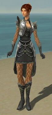Elementalist Elite Flameforged Armor F gray front
