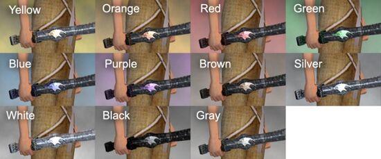 Machete Dye Chart