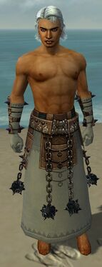 Dervish Obsidian Armor M gray arms legs front