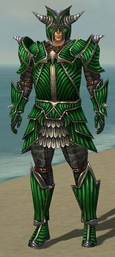 Warrior Wyvern Armor M dyed front