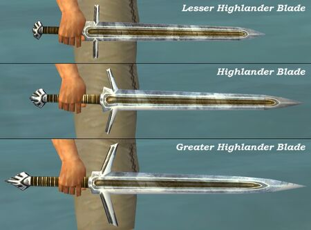 Highlander Blades comparison