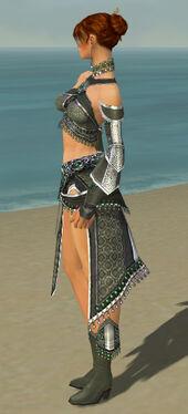Elementalist Elite Luxon Armor F gray side