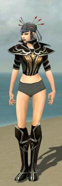 Necromancer Elite Sunspear Armor F gray chest feet front