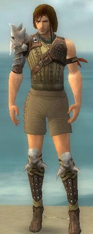 File:Ranger Studded Leather Armor M gray chest feet front.jpg