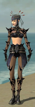 Necromancer Obsidian Armor F gray front