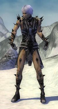 Necromancer Obsidian Armor M gray front