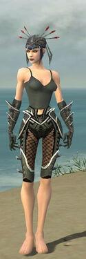 Necromancer Elite Kurzick Armor F gray arms legs front