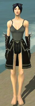 Necromancer Shing Jea Armor F gray arms legs front