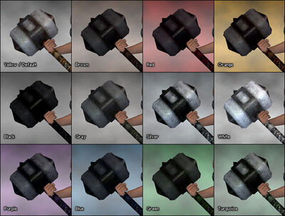 Foehammer dye chart