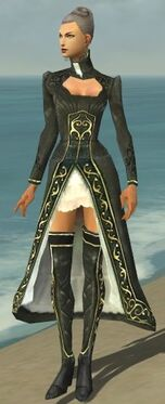 Mesmer Elite Noble Armor F gray chest feet front