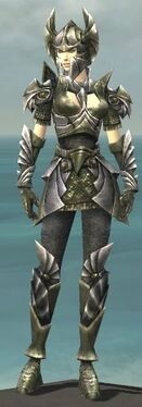 Warrior Templar Armor F gray front