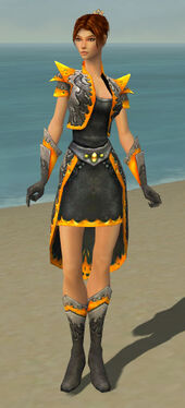 Elementalist Flameforged Armor F dyed front