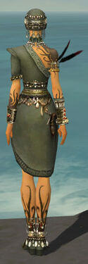 Ritualist Canthan Armor F gray back