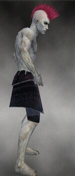 Deathlace Leggings M gray side