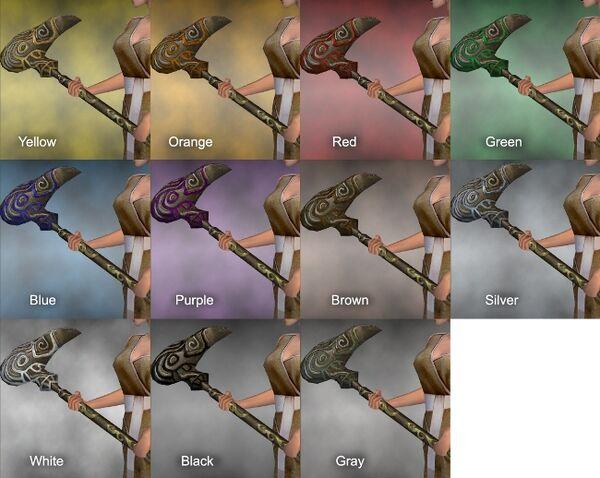 Avian Hammer Dye Chart