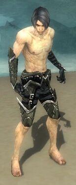 Necromancer Elite Profane Armor M gray arms legs front