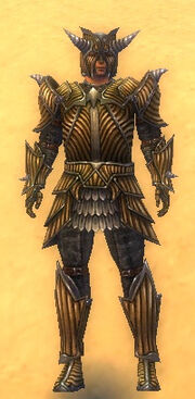 Warrior Wyvern Armor M dyed yellow front