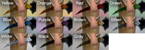 Wicked Blade Dye Chart