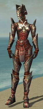 Warrior Asuran Armor F gray front