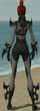 Assassin Kurzick Armor F gray back