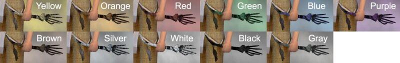 Bone Charm Dye Chart