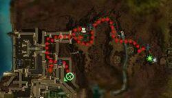 Perplexing Plague quest map