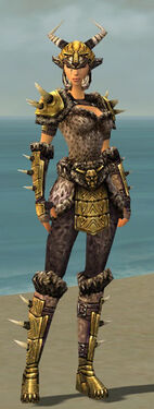 Warrior Elite Charr Hide Armor F dyed front