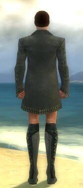 Mesmer Elite Enchanter Armor M gray chest feet back
