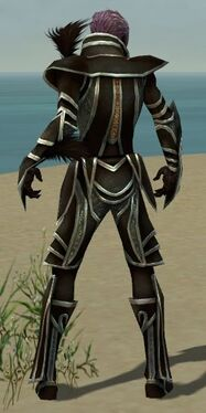 Necromancer Elite Sunspear Armor M gray back