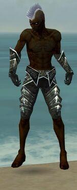 Necromancer Fanatic Armor M gray arms legs front