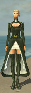 Mesmer Courtly Armor F gray chest feet front