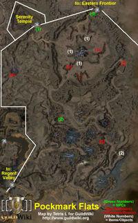 Pockmark Flats Map