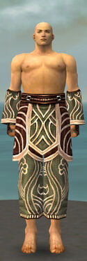 Monk Canthan Armor M gray arms legs front