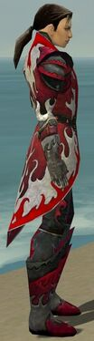 Elementalist Elite Flameforged Armor M dyed side