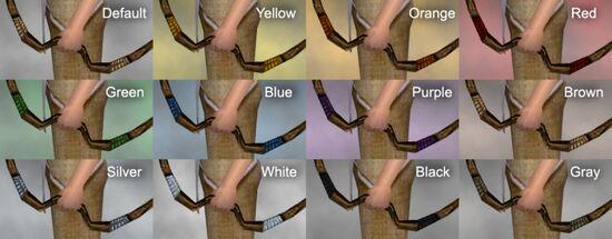 Vabbian Shortbow Dye Chart