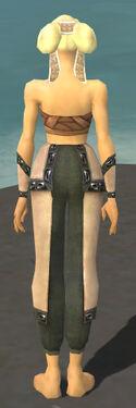 Monk Obsidian Armor F gray arms legs back