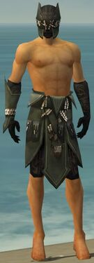 Ritualist Kurzick Armor M gray arms legs front