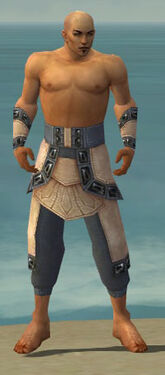 Monk Obsidian Armor M gray arms legs front