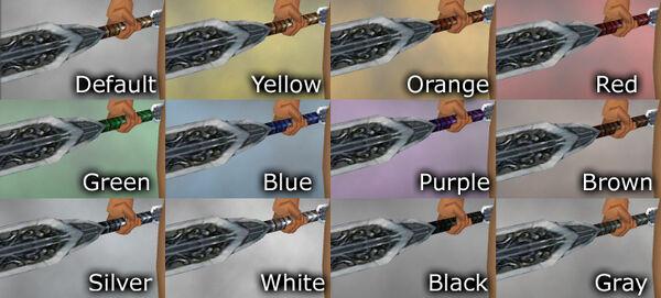 Platinum Blade dye chart