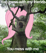 37000 - axe fluttershy fluttertree tree